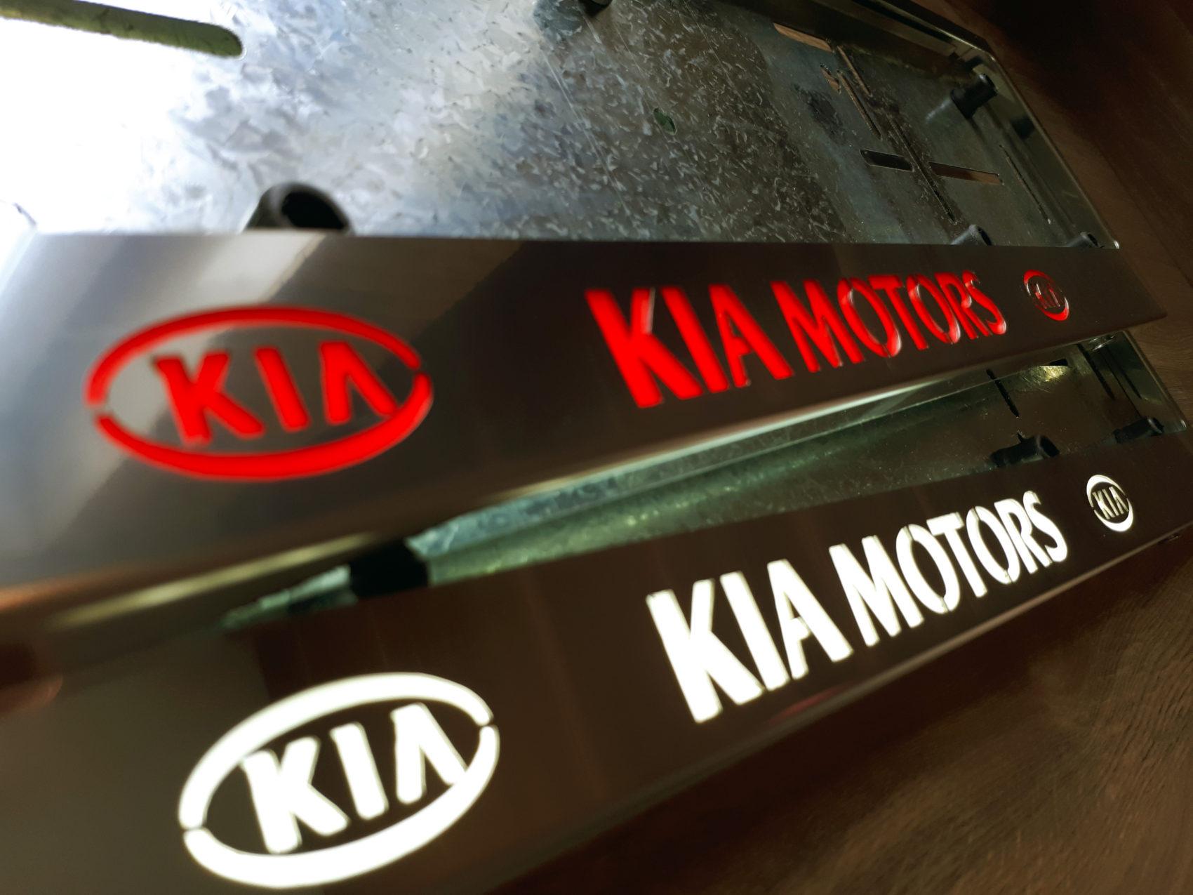 рамка под номера KIA MOTORS
