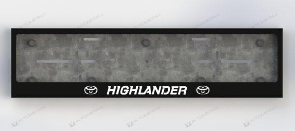 рамка под номера TOYOTA HIGHLANDER V1
